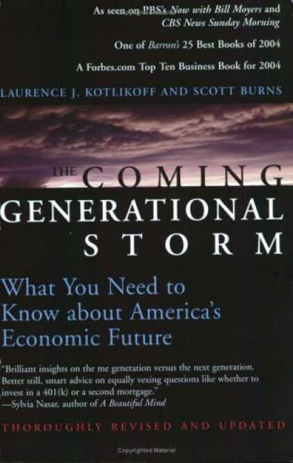Economics Books - The Coming Generational Storm: What You Need to Know about America's Economic Fu