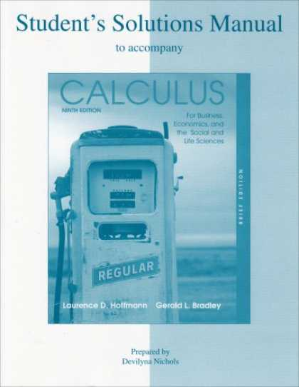 Economics Books - Student's Solutions Manual to accompany Calculus for Business, Economics, and th