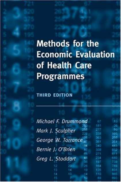 Economics Books - Methods for the Economic Evaluation of Health Care Programmes