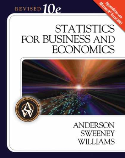 Economics Books - Statistics for Business and Economics, 10th Edition (with Student CD-ROM)