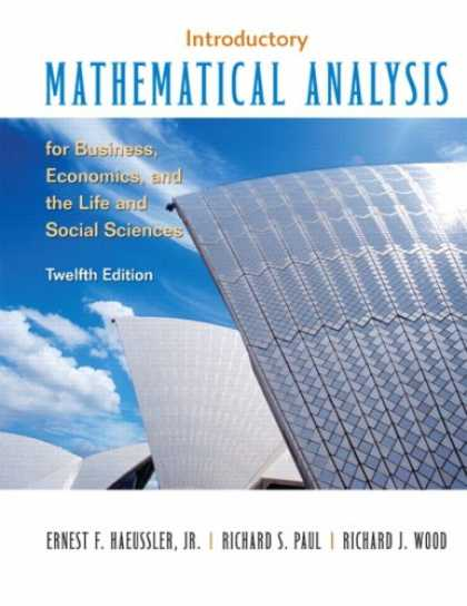Economics Books - Introductory Mathematical Analysis for Business, Economics and the Life and Soci