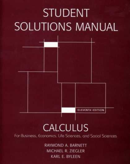 Economics Books - Student's Solutions Manual for Calculus for Business, Economics, Life Sciences &