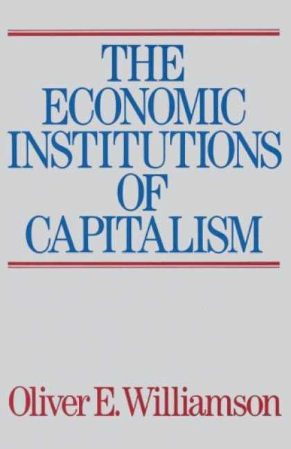 Economics Books - The Economic Institutions of Capitalism
