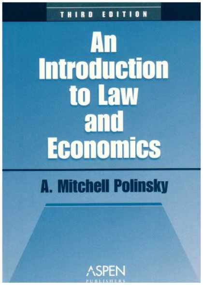 Economics Books - An Introduction to Law and Economics (Coursebook Series)