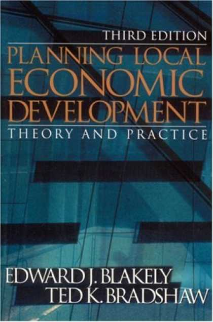 Economics Books - Planning Local Economic Development: Theory and Practice