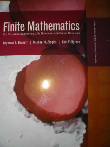 Economics Books - Finite Mathematics Custom Edition for University of Louisville (For Business, Ec