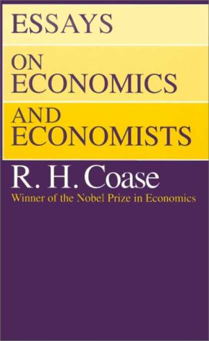 Economics Books - Essays on Economics and Economists