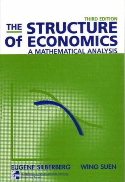 Economics Books - The Structure of Economics: A Mathematical Analysis