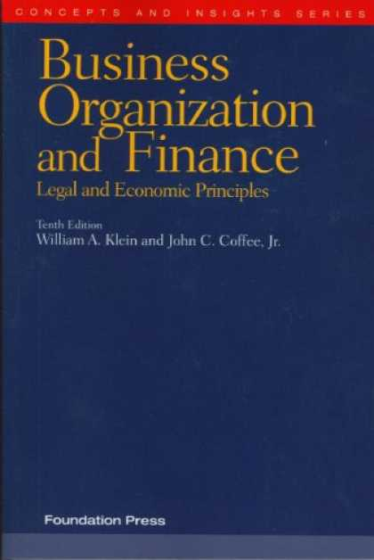 Economics Books - Business Organization and Finance, Legal and Economic Principles (Concepts and I