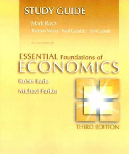 Economics Books - Study Guide for Essential Foundations of Economics plus MyEconLab plus eBook 1-s