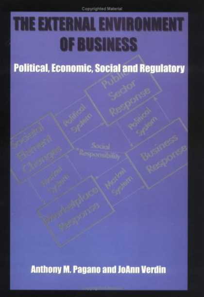 Economics Books - The external environment of business: Political, economic, social and regulatory