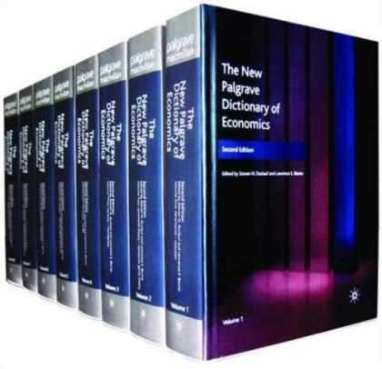 Economics Books - The New Palgrave Dictionary of Economics (8 Volume Set)