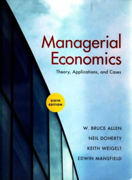 Economics Books - Managerial Economics, Sixth Edition