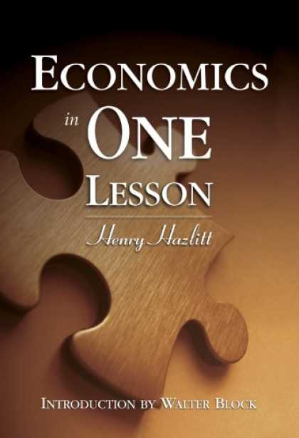 Economics Books - Economics in One Lesson