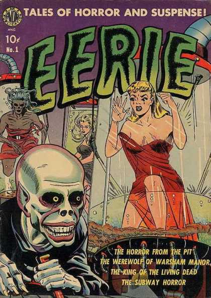 Eerie (Avon) 1 - Tales Of Horror And Suspense - Woman - Monster - Tube - Pipe