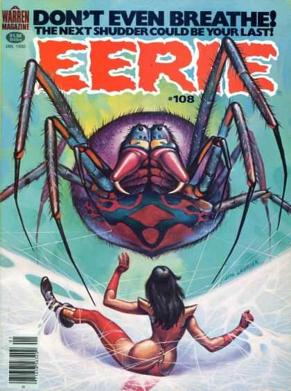 Eerie 108 - Spider - 108 - Warren Magazine - January - Snow
