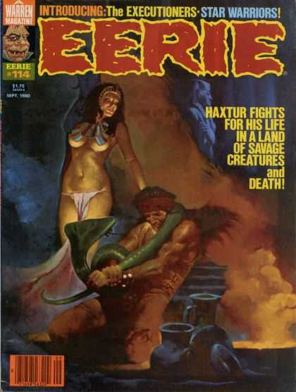 Eerie 114 - Warren Magazine - 114 - The Executioners - Star Warriors - Haxtur Fights For His Life