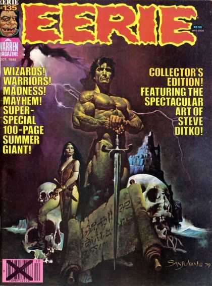 Eerie 135 - Sword - Warren Magazine - Collectors Edition - Wizards - Warriors