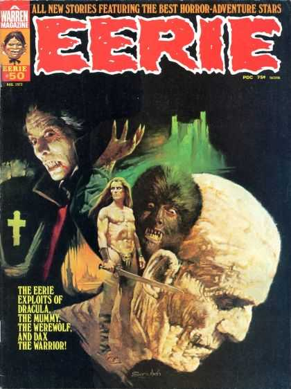 Eerie 50 - A Warrior Defends - Monsterous Friends Or Fiends - Wolrmans Intimidation - Sword And The Cross - Mysteries Of The Green Castle