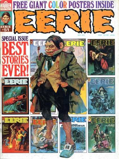 Eerie 51 - Best Stories - Creatures - Creepy - Frightened - Ghosts