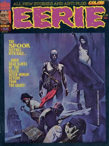 Eerie 58 - New Stories And Art In Color - The Spook - Rage - Dead Slaves Return From The Grave - Killer Witch-woman