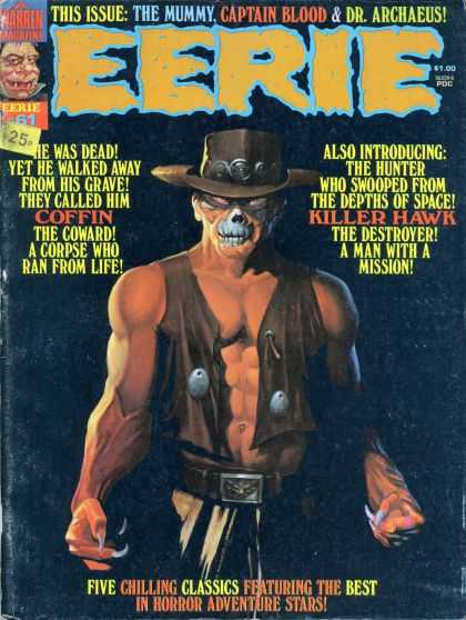 Eerie 61 - The Mummy - Captain Blood - Dr Archaeus - Killer Hawk - Coffin