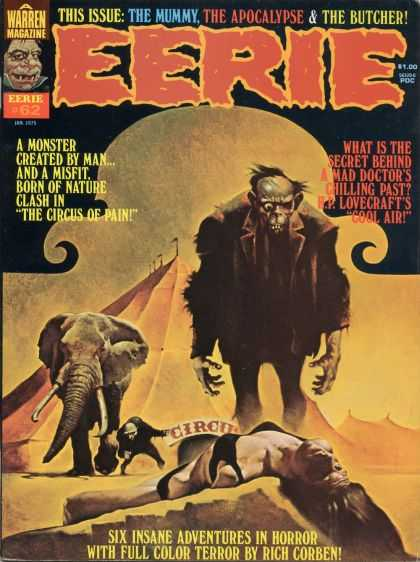 Eerie 62 - The Mummy - The Apocalypse - The Butcher - Warren Magazine - Elephant