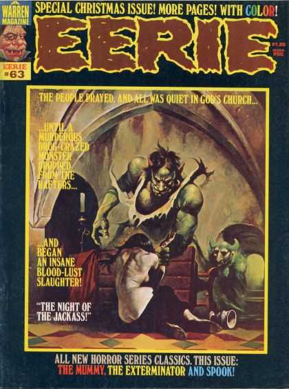 Eerie 63 - Special Christmas Issue - Murderous - Drug Crazed - Blood Lust - The Exterminator