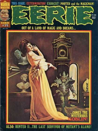 Eerie 71 - Grandfather Clock - Sword - Warren Magazine - Exterminator - Exorcist
