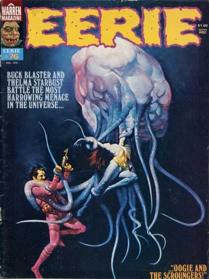 Eerie 76 - Battle In The Universe - Buck Blaster - Harrowing Menace - Creature - Thelma Starbust