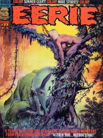 Eerie 77 - Amazon - Dinosaur - Tree - Jungle - Triceratops - Richard Corben