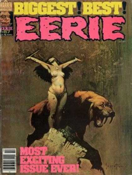 Eerie 87 - Bear - Superwoman - Sword - Long Hair - Sharp Teeth