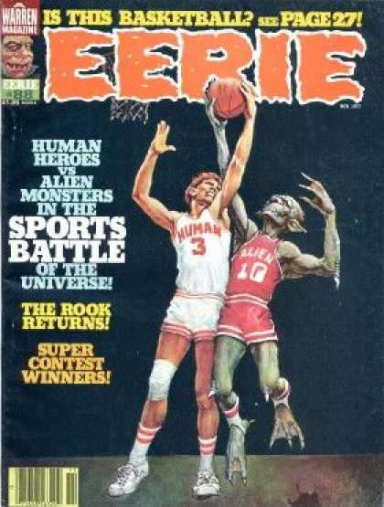 Eerie 88 - Warren Magazine - Is This Basketball - The Book Returns - Super Contest Winners - Human Heroes