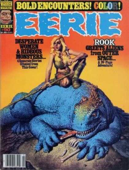 Eerie 90 - Eerie - Rook Greets Aliens From Outer Space - Desperate Women U0026 Hideous Monsters - Lizard - Babe