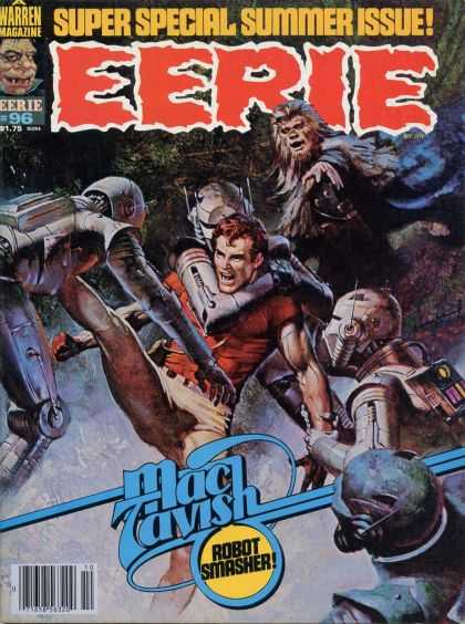Eerie 96 - Super Special Summer Issue - Mac Tavish - Robots - Wolfman - Fighting