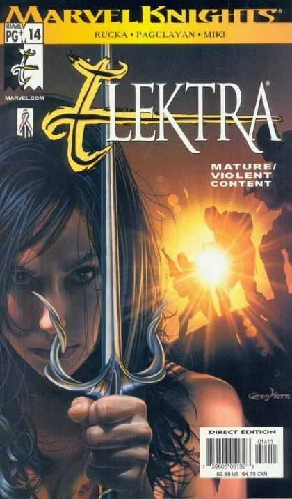 Elektra 14 - Marvel Knights - Rucka - Pagulayan - Miki - Direct Edition - Deodato Fiho, Greg Horn