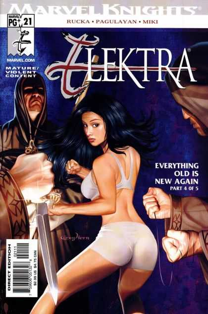 Elektra 21 - Marvel Knightw - Rucka - Pagulayan - Miki - Everything Old Is New Again Part 4 Of 5 - Greg Horn