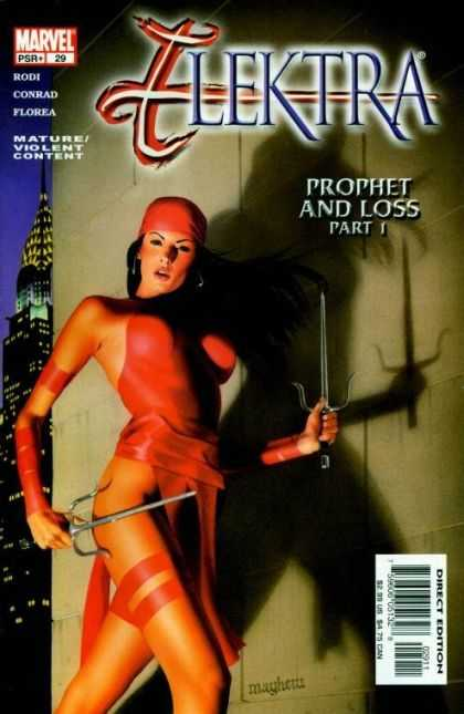 Elektra 29 - Marvel - Knifes - Prophet And Loss - Part 1 - Mature Violent Contane - Mike Mayhew