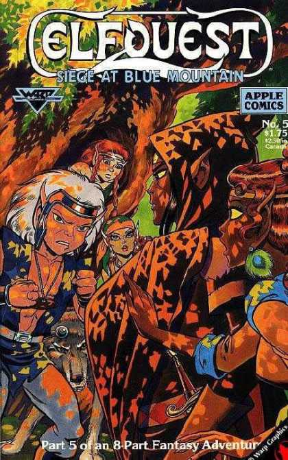 Elfquest: Siege at Blue Mountain 5 - Apple Comics - No5 - 175 - 250 Canada - Fantasy Adventu - Wendy Pini