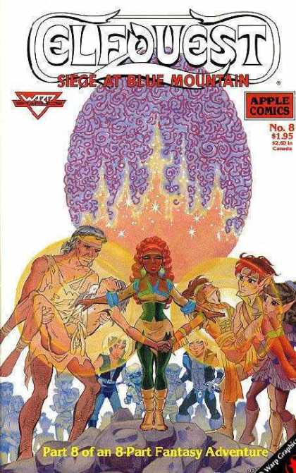 Elfquest: Siege at Blue Mountain 8 - Apple Comics - No8 - Fantasy Adventure - Part 8 Of 8 - People - Wendy Pini