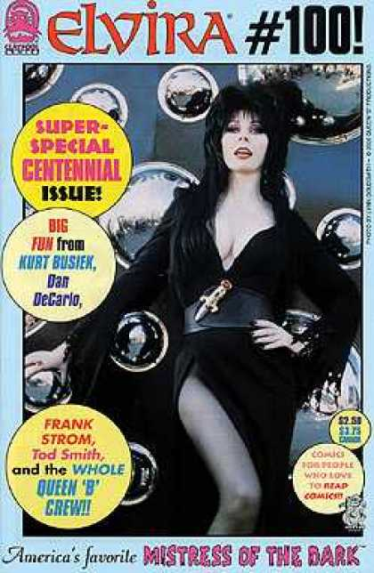Elvira 100 - Mistress Of The Dark - Black Dress - Long Hair - Special Issue - Queen B