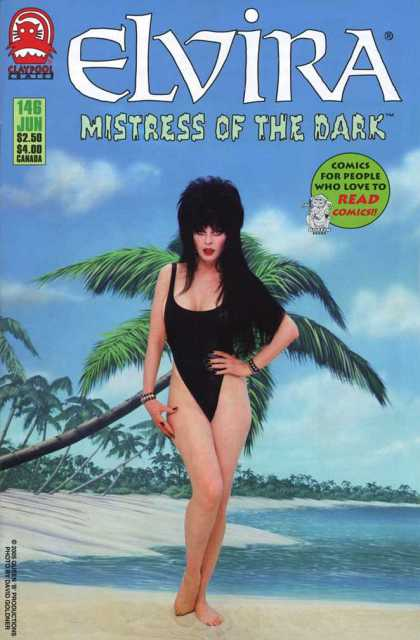 Elvira 146 - Mistress Of The Dark - June - Beach - Palm Tree - Bathing Suit