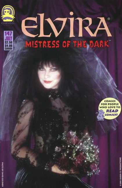 Elvira 147 - Mistress Of The Dark - Black Hair - Black Dress - Flowers - Wedding