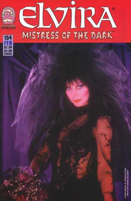 Elvira 154 - Bride - Woman - Veil - Bouquet - Mistress Of The Dark
