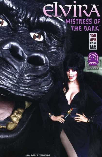 Elvira 156 - Mistress Of The Dark - Queen B Productions - Gorilla - Gorilla And Woman - Lady In Black
