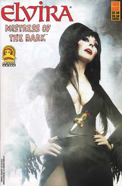 Elvira 160 - Mistress Of The Dark - Cleavage - Dagger - Black Hair - Black Dress