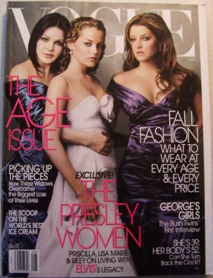 Elvis Presley Books - Vogue: The Presley Women; Priscilla, Lisa Marie & Riley on living with ELVIS's l