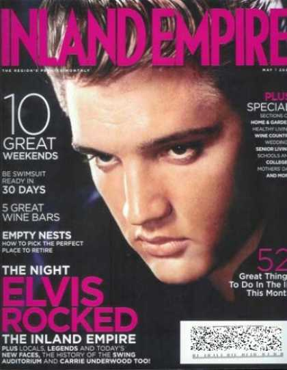 Elvis Presley Books - Inland Empire Magazine - May 2008: Elvis Presley Cover!