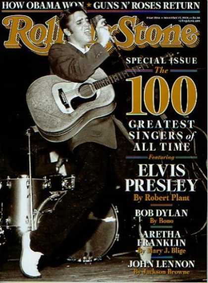 Elvis Presley Books - Rolling Stone November 27 2008 Special Issue 100 Greatest Singers of All Time El