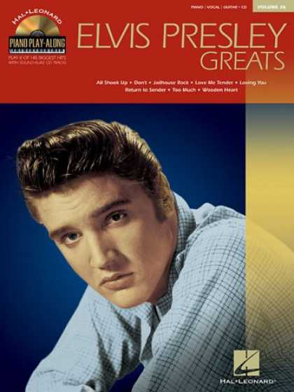 Elvis Presley Books - Elvis Presley Greats: Piano Play-Along Volume 36 (Hal-Leonard, Piano Play-Along)